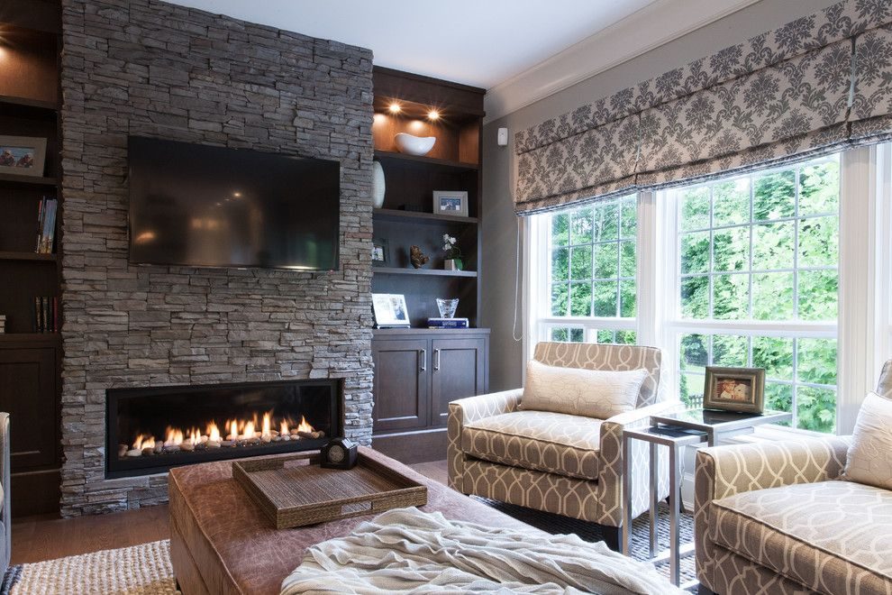 Crescent Electric Supply Company for a Traditional Family Room with a Tray and Family First by Kenorah Design + Build Ltd.