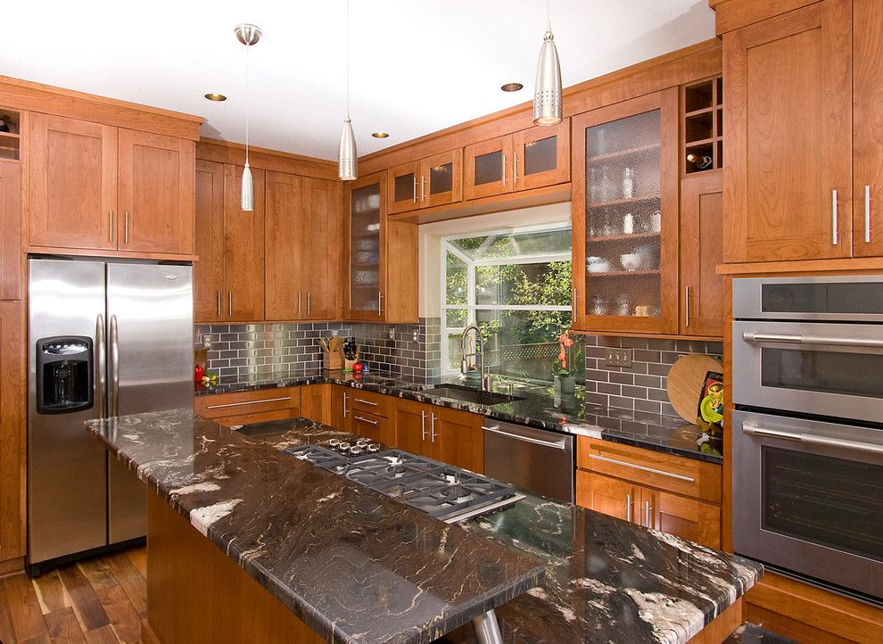 Crescent Electric Supply Company for a Traditional Kitchen with a Ceiling Lighting and Cabinetry Makes a Difference by North Pacific Supply Company, Inc.