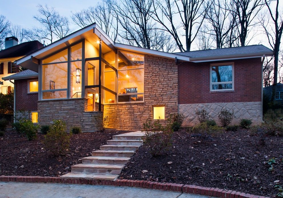 Crestview Doors for a Midcentury Exterior with a Open and Druid Hills Mid Century Modern by Renewal Design Build