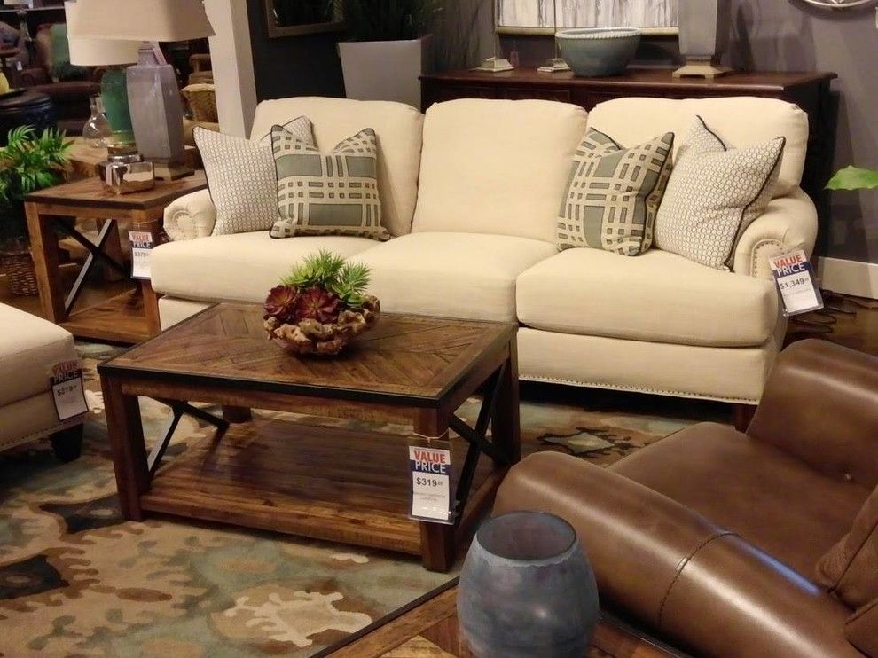 Crowley Furniture for a Traditional Living Room with a Wood Side Table and Gallery by Crowley Furniture