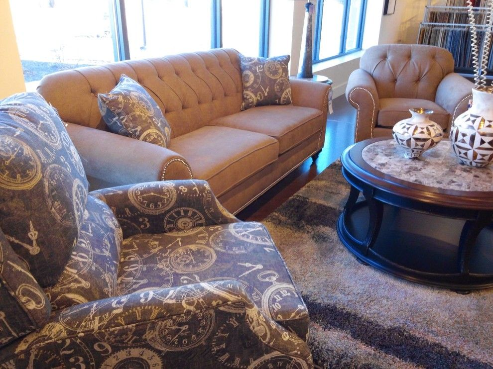 Crowley Furniture for a Transitional Family Room with a Round Coffee Table and Gallery by Crowley Furniture