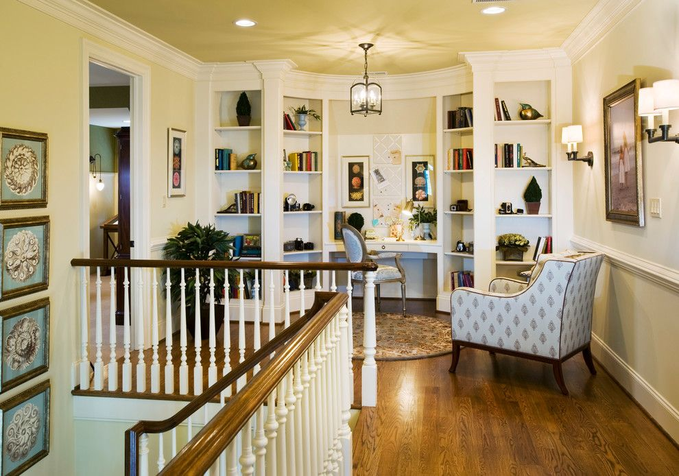 Csl Lighting for a Traditional Home Office with a Pendant Lantern and Haverford Reserve | the Carriage Homes by Guidi Homes