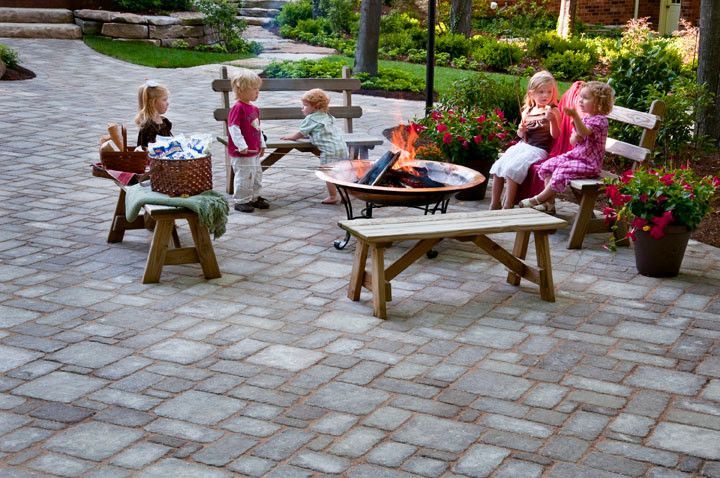 Cst Pavers for a Traditional Patio with a Hardscaping and Paver Patio Deep Creek, Md by Cst Pavers