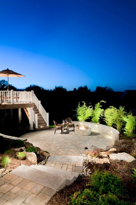 Cst Pavers for a Traditional Patio with a Landscape Steps and Alessandri Backyard Patio and Firepit by Cst Pavers