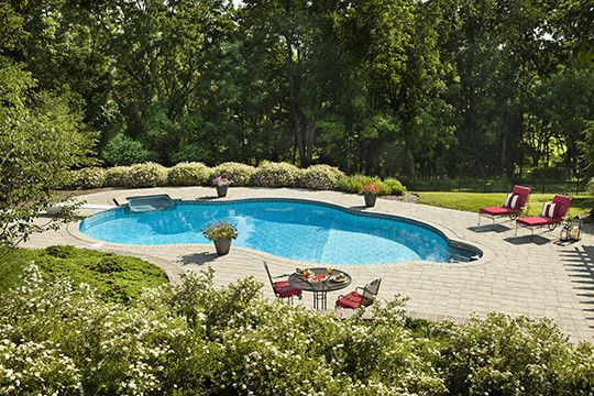 Cst Pavers for a Traditional Patio with a Paver Driveway and Poolscape in New Jersey by Cst Pavers