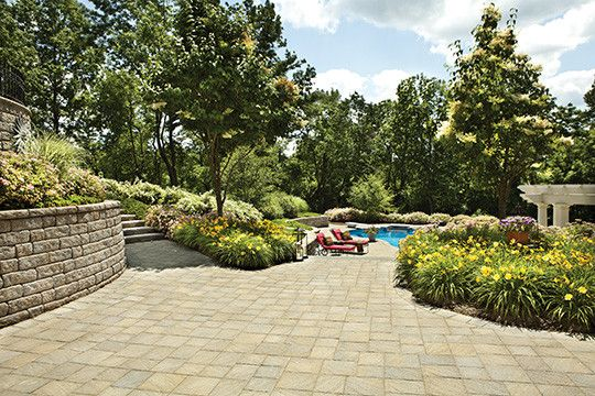 Cst Pavers for a Traditional Patio with a Pool Ideas and Paver Poolscape in New Jersey by Cst Pavers