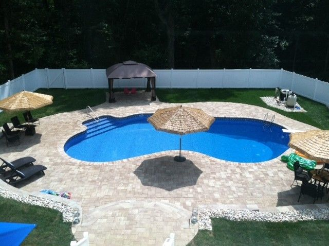 Cst Pavers for a Tropical Spaces with a Pool Deck and Pavers Pool Deck by Solution People Inc.