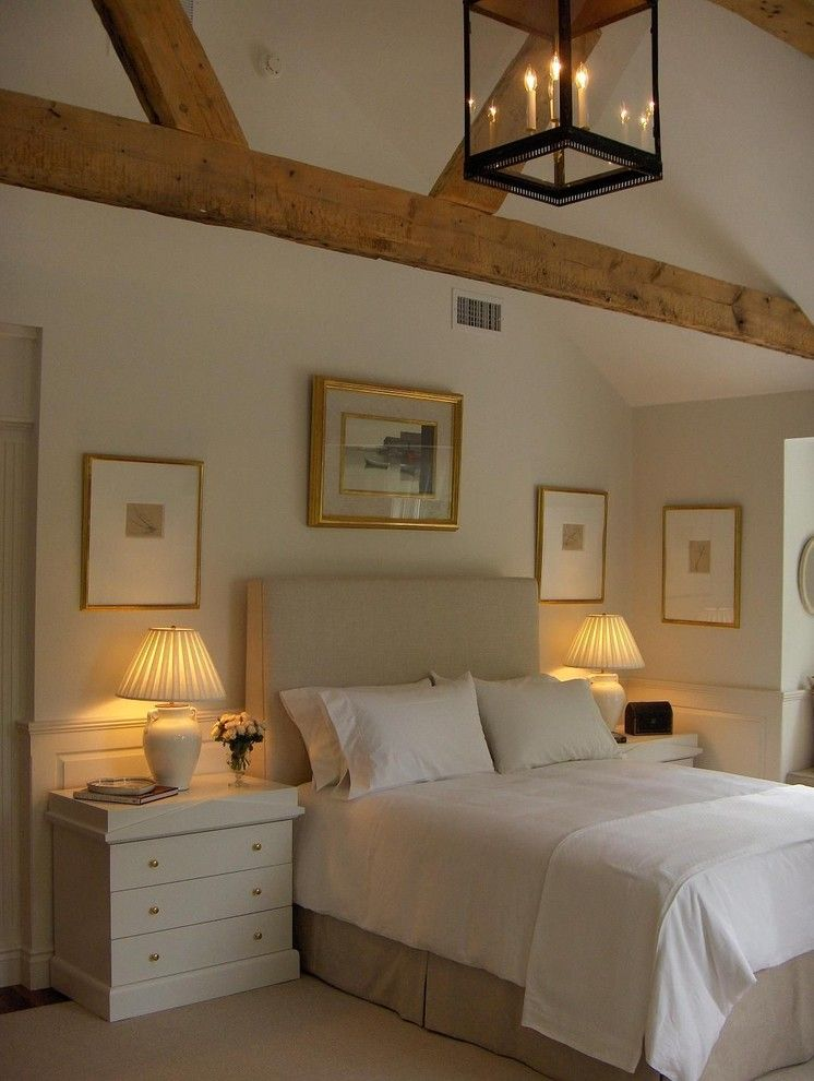 Cuddledown for a Traditional Bedroom with a Custom Headboard and Master Bedroom by F. D. Hodge Interiors