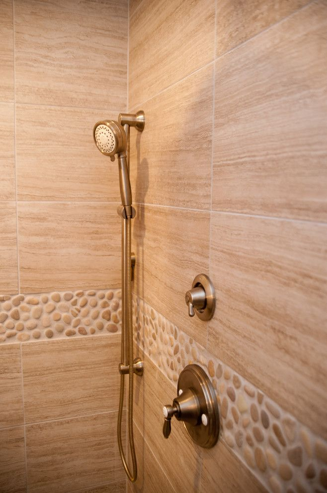Cumtv for a Modern Bathroom with a Seta and Seta Porcelain & Pebble Series with Design Build Pros of Nj by Best Tile