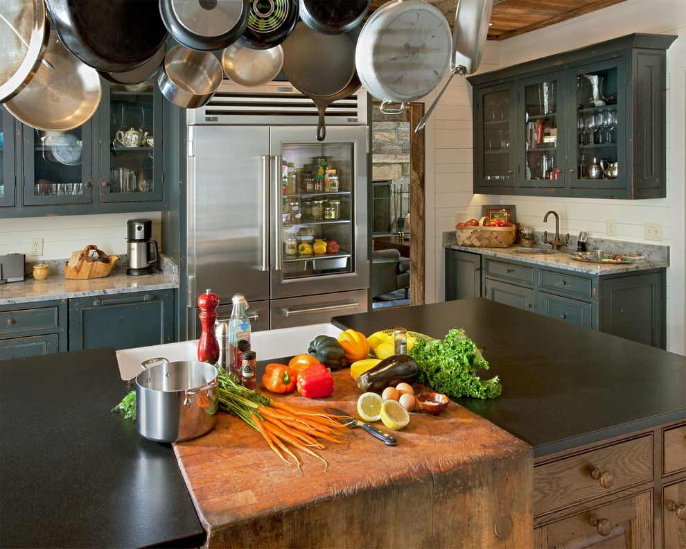 Cumtv for a Rustic Kitchen with a Wood Paneling and Chestnut Hall by Platt Architecture, Pa