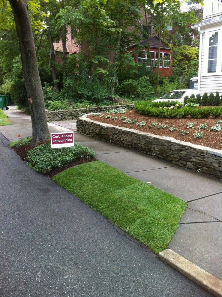Curb Appeal Landscaping for a Traditional Landscape with a Landscape Project Chestnut Hill Ma and Chestnut Hill, Massachusetts by Curb Appeal Landscaping