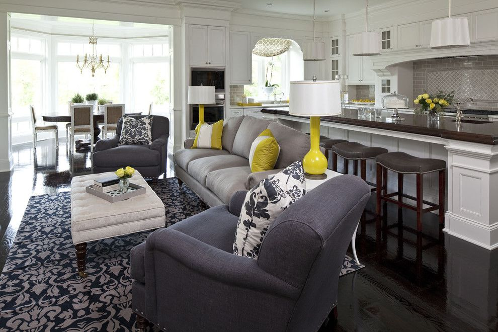 Cute Living Room Ideas for a Traditional Living Room with a Area Rug and Parkwood Road Residence Living Room 2 by Martha O'hara Interiors