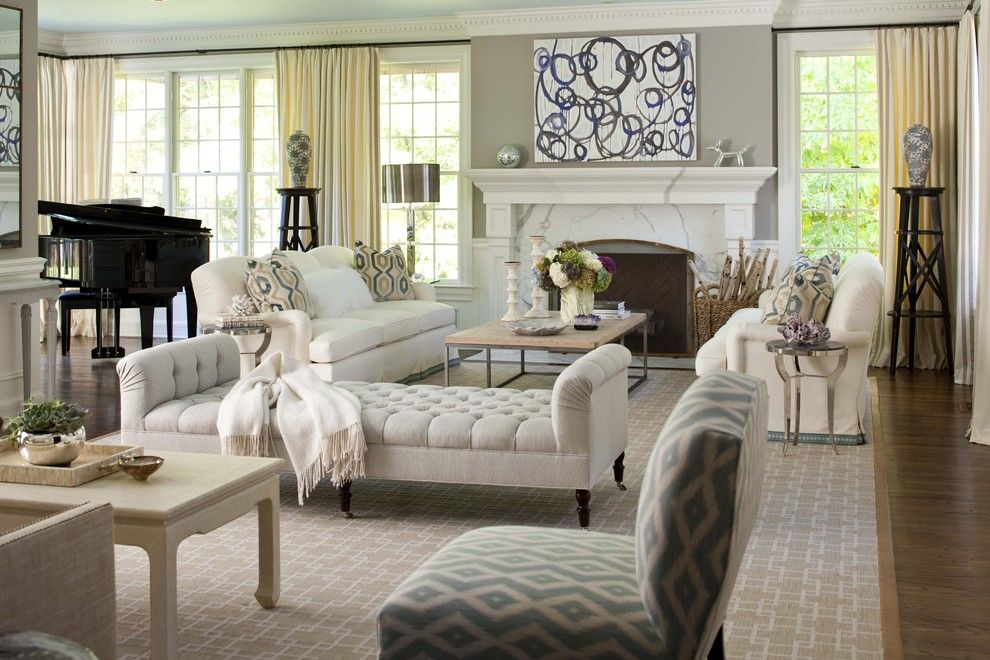 Cute Living Room Ideas for a Traditional Living Room with a Diamonds and Elegant Living Room by Museinteriors