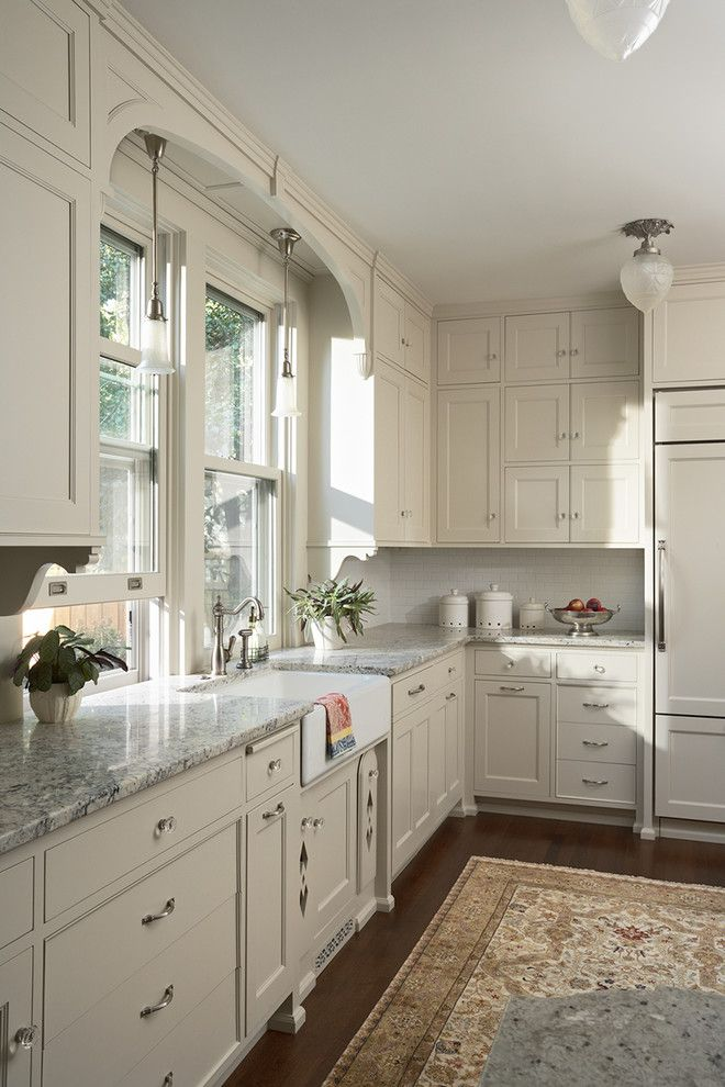 D Lawless Hardware for a Victorian Kitchen with a Neutral Colors and Summit Hill Shingle Style Home Remodel by David Heide Design Studio