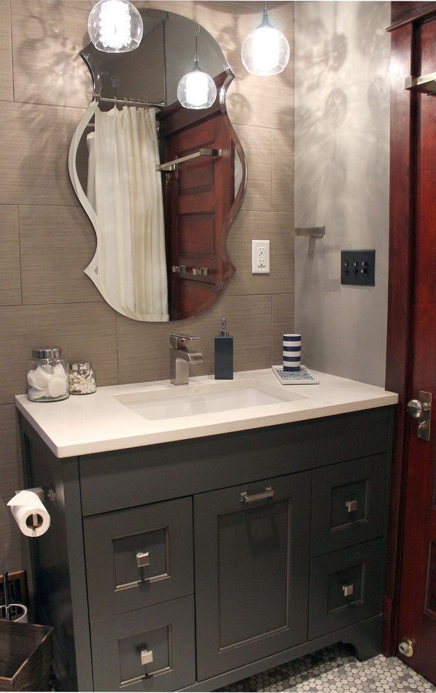 Daltile Denver for a Contemporary Bathroom with a Contemporary and Congress Park by Lauren Mikus