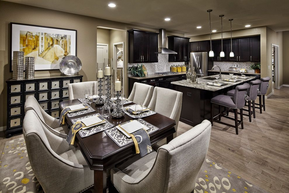 Daltile Denver for a Contemporary Dining Room with a Homes for Sale in Arvada and the Nouvel at Candelas by Village Homes by Village Homes