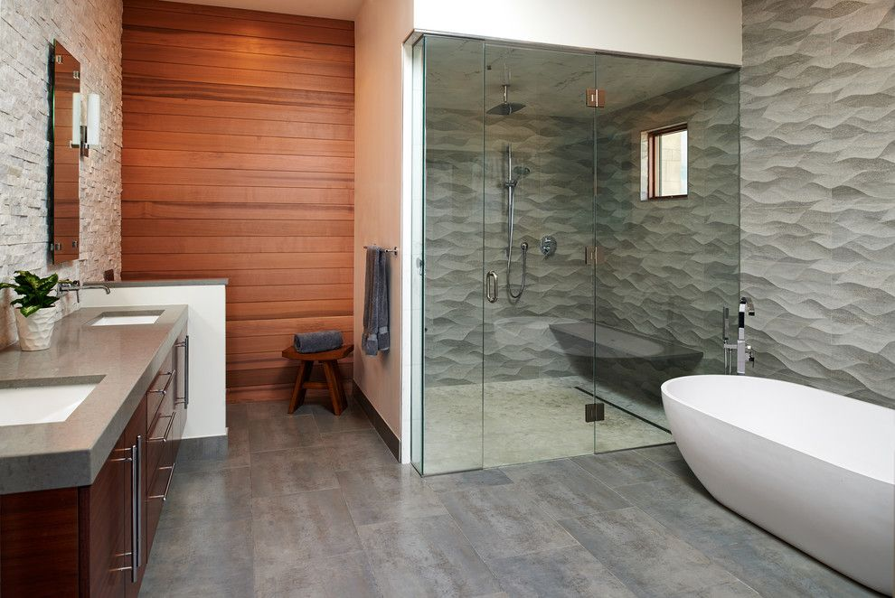 Daltile Denver for a Contemporary Spaces with a Contemporary and Cherry Hills Village Contemporary by Cindy Mccoy Designs