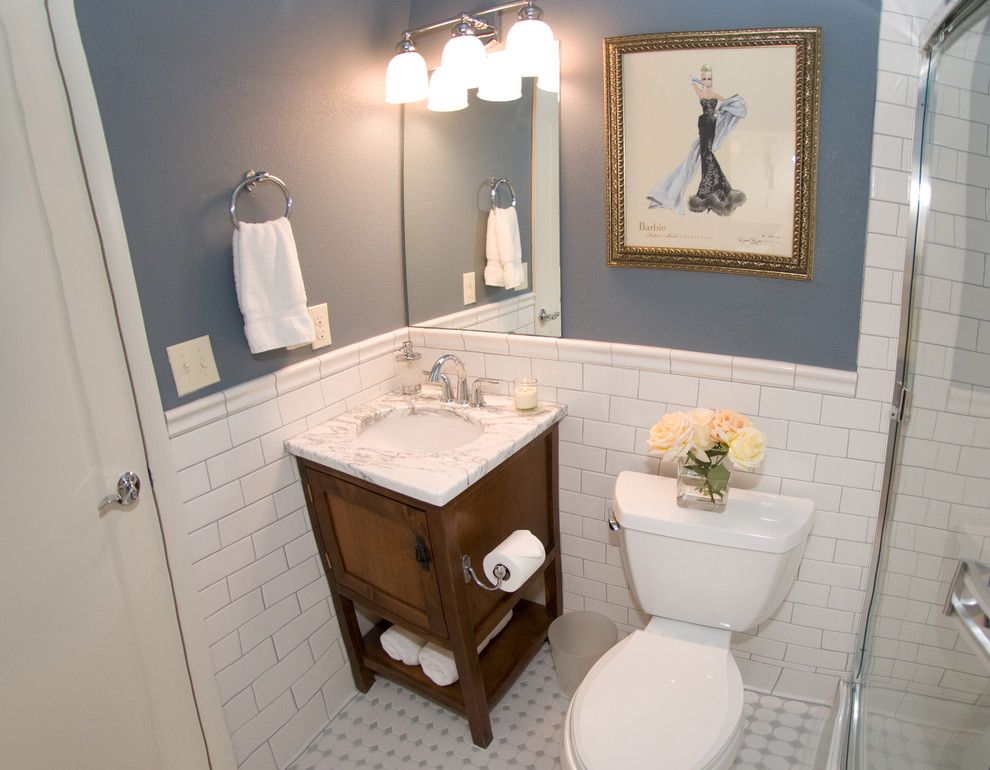 Daltile Denver for a Eclectic Bathroom with a Trasitional and Surrey Ridge Residence by Ak Interior Design