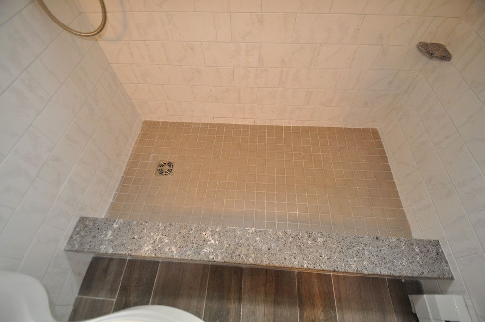 Daltile Keystones for a  Bathroom with a Carrara and Carry Through Accent Project 1662 by Design 1 Kitchen & Bath