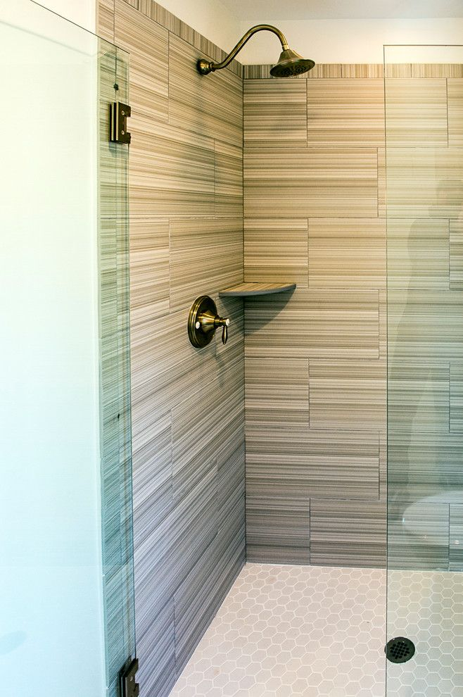 Daltile Keystones for a Transitional Bathroom with a South Carolina Lowcountry and Beautiful Baths by Stoneworks, Inc.