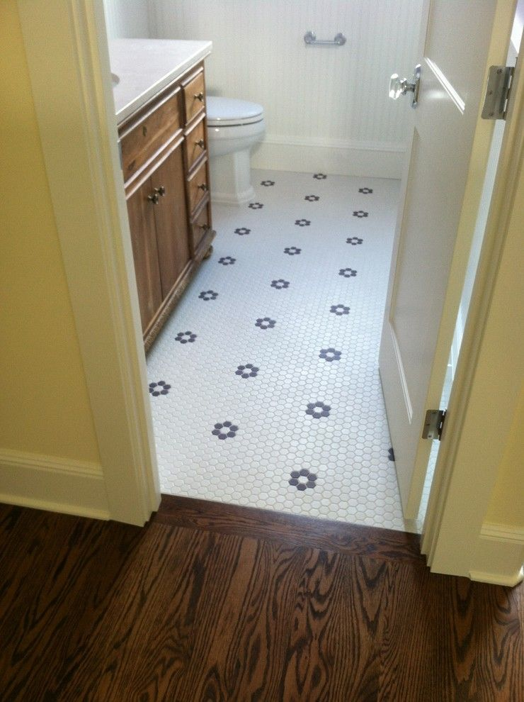 Daltile Keystones for a Transitional Bathroom with a Wood Wainscot and Seattle Custom Home 1 by Wholesale Flooring Services
