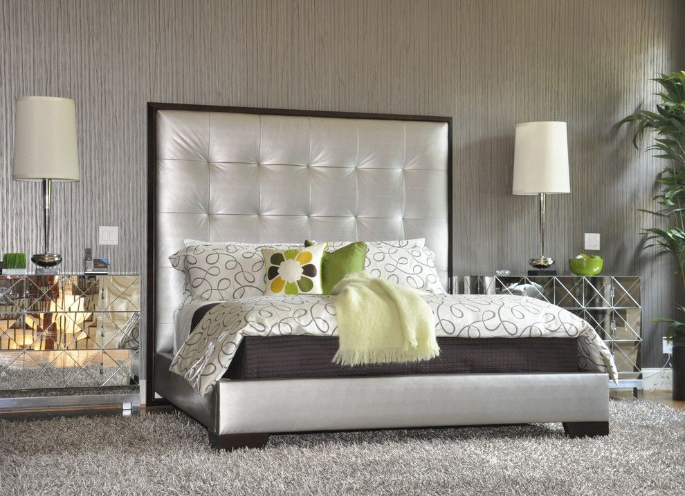 Daltile Las Vegas for a Contemporary Bedroom with a Wallcoverings and Simone Alisa ~ Been There Done That by Simone Alisa