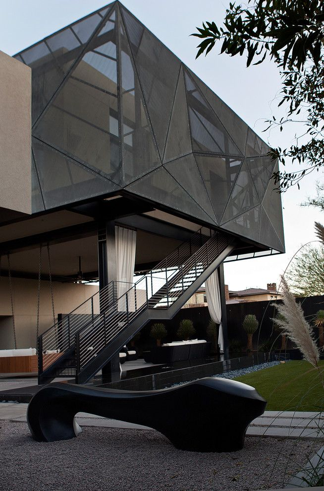Daltile Las Vegas for a Contemporary Exterior with a Cantilevered and Tresarca by Assemblage Studio