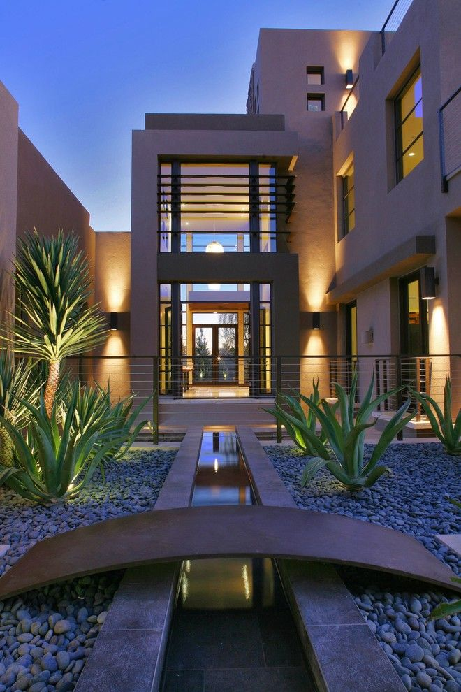 Daltile Las Vegas for a Contemporary Exterior with a Contemporary Landscaping and Marquis Las Vegas (2009 New American Home) by Paul Alvarez
