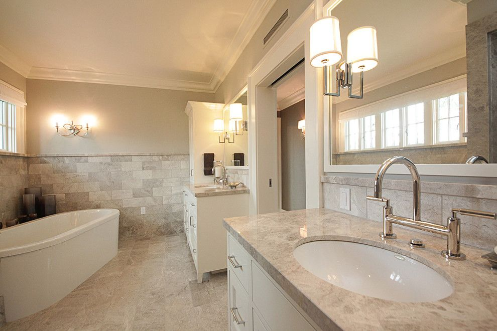 Daltile Seattle for a Contemporary Bathroom with a Built in Medicine Cabinets and Washington Park Residence by Richartz Studios, Inc.