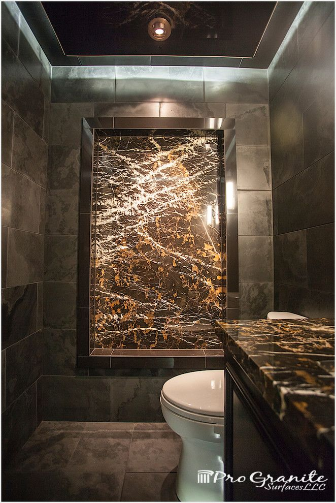 Daltile Seattle for a Contemporary Bathroom with a Modern Design and Contemporary Seattle Bath Remodel by Progranite Surfaces Llc