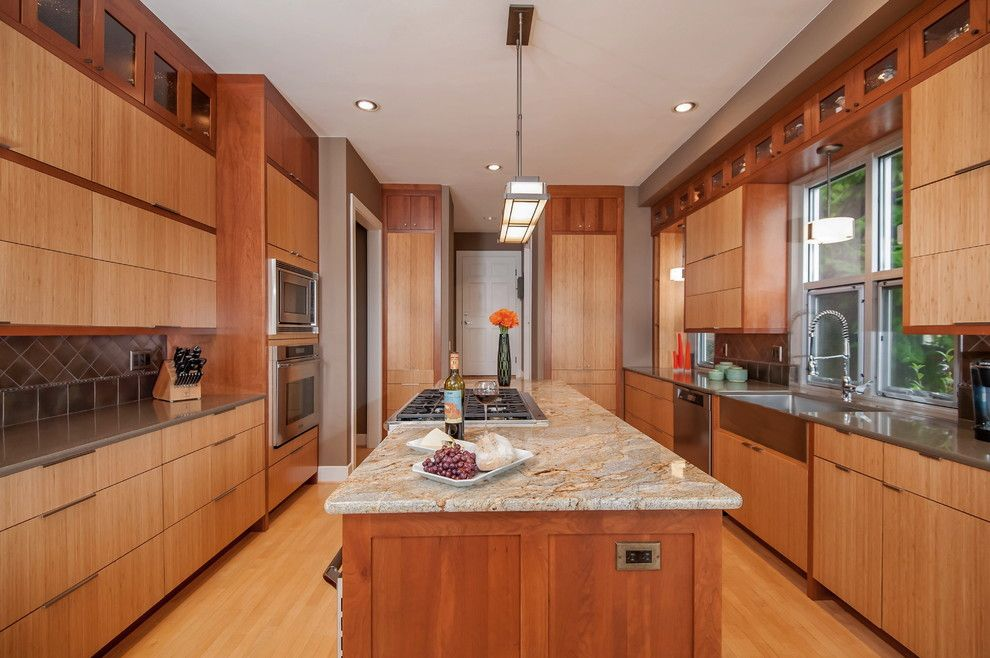 Daltile Seattle for a Contemporary Kitchen with a Granite and Bainbridge Island Kitchen by William & Wayne