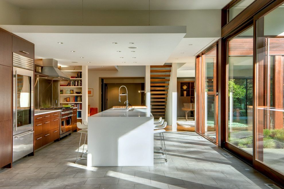 Daltile Seattle for a Contemporary Kitchen with a Northwest Modern and Kitchen by Newtown Builders Inc.