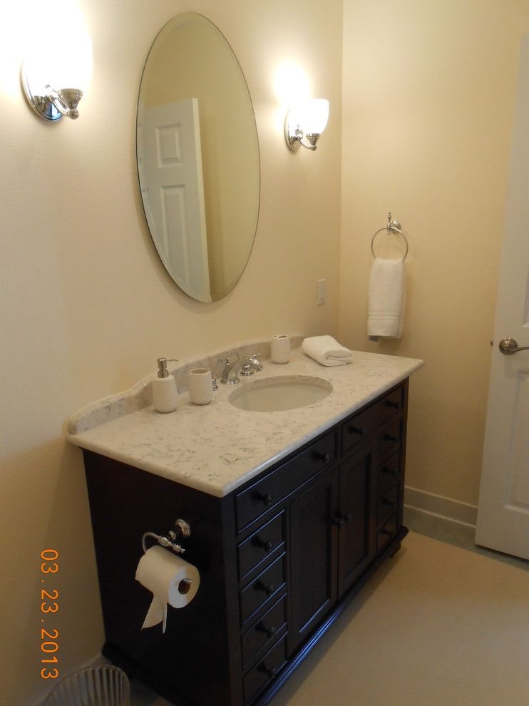 Daltile Seattle for a Traditional Bathroom with a Toto Toilet and Vintage Full Bathroom   Vanity by Ardelledennis