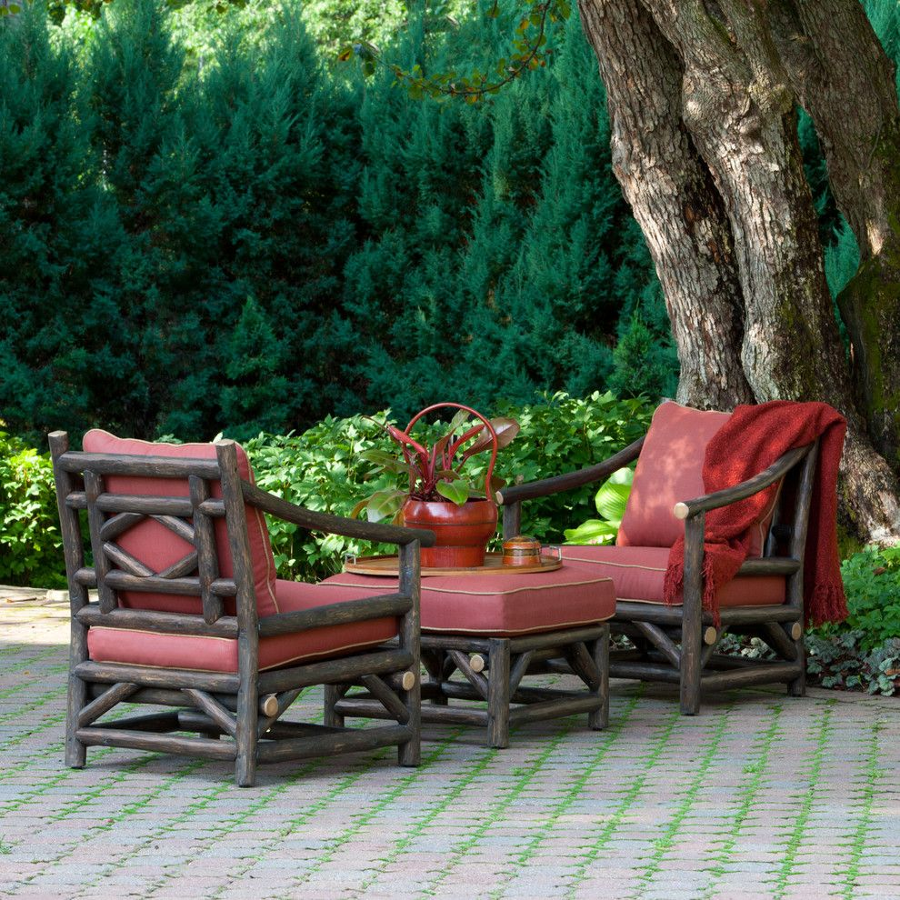 Dania Furniture Portland for a Rustic Patio with a Log Home and La Lune Collection by La Lune Collection