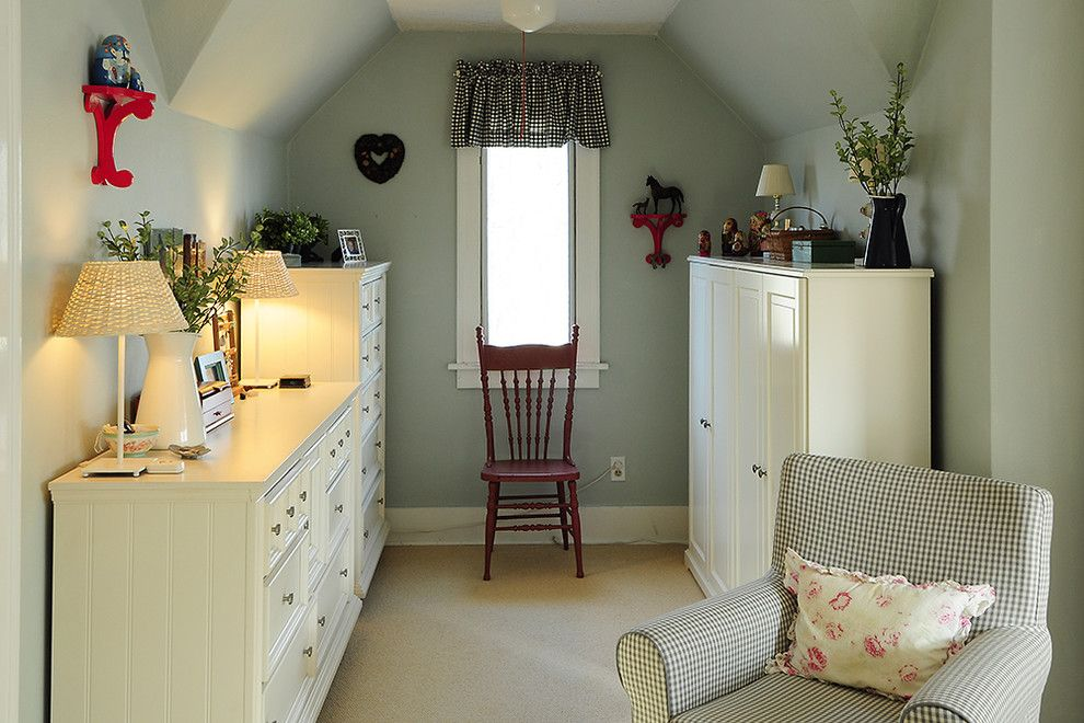 Dania Furniture Portland for a Traditional Bedroom with a Ceiling Light and Master Bedroom Nook by Julie Smith