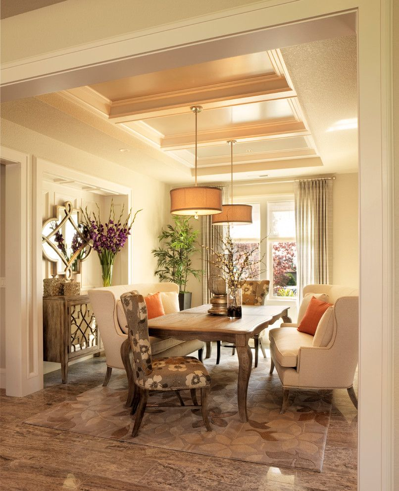 Dania Furniture Portland for a Traditional Dining Room with a Cream and 2011 Street of Dreams (