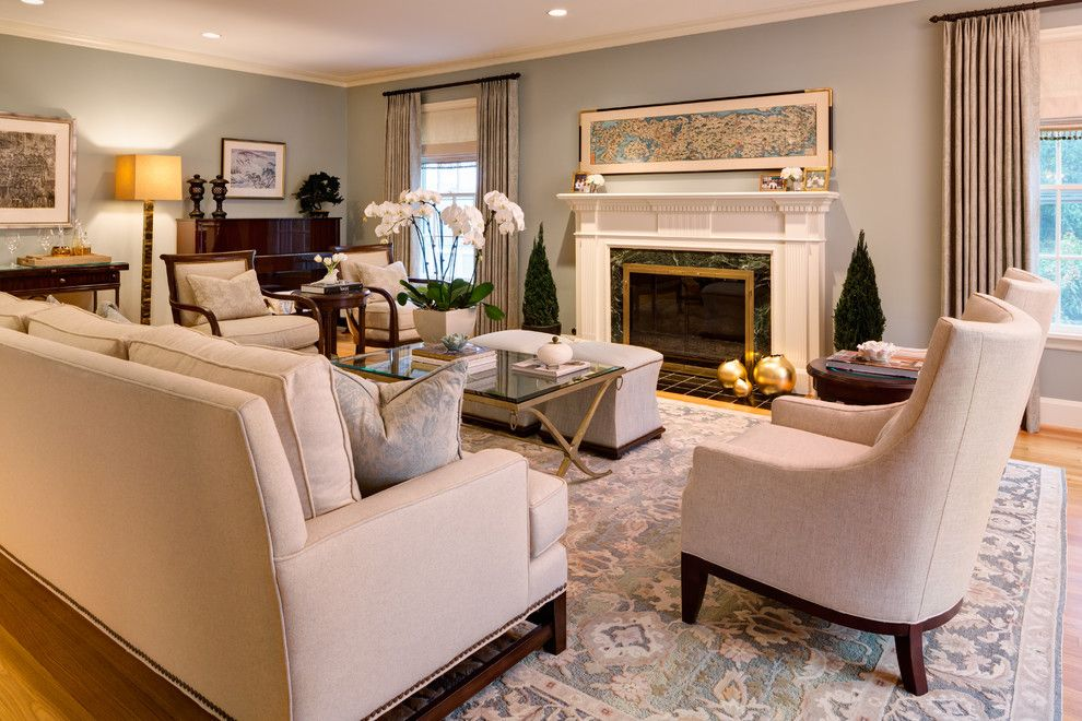 Dania Furniture Portland for a Traditional Living Room with a Baseboard and Sw Vista by Nifelle Design   Fine Interiors