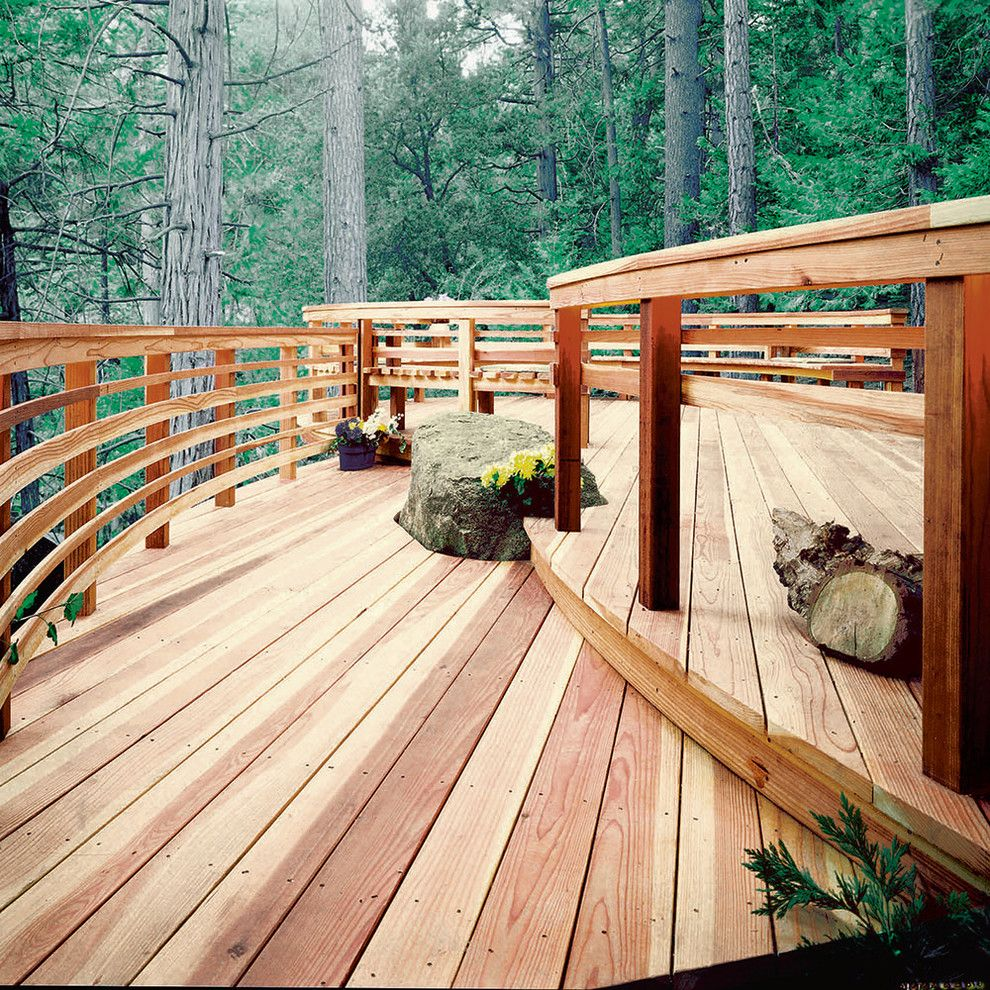 Danielle Fence for a Contemporary Deck with a Contemporary and the Home Depot Decks and Fences by the Home Depot