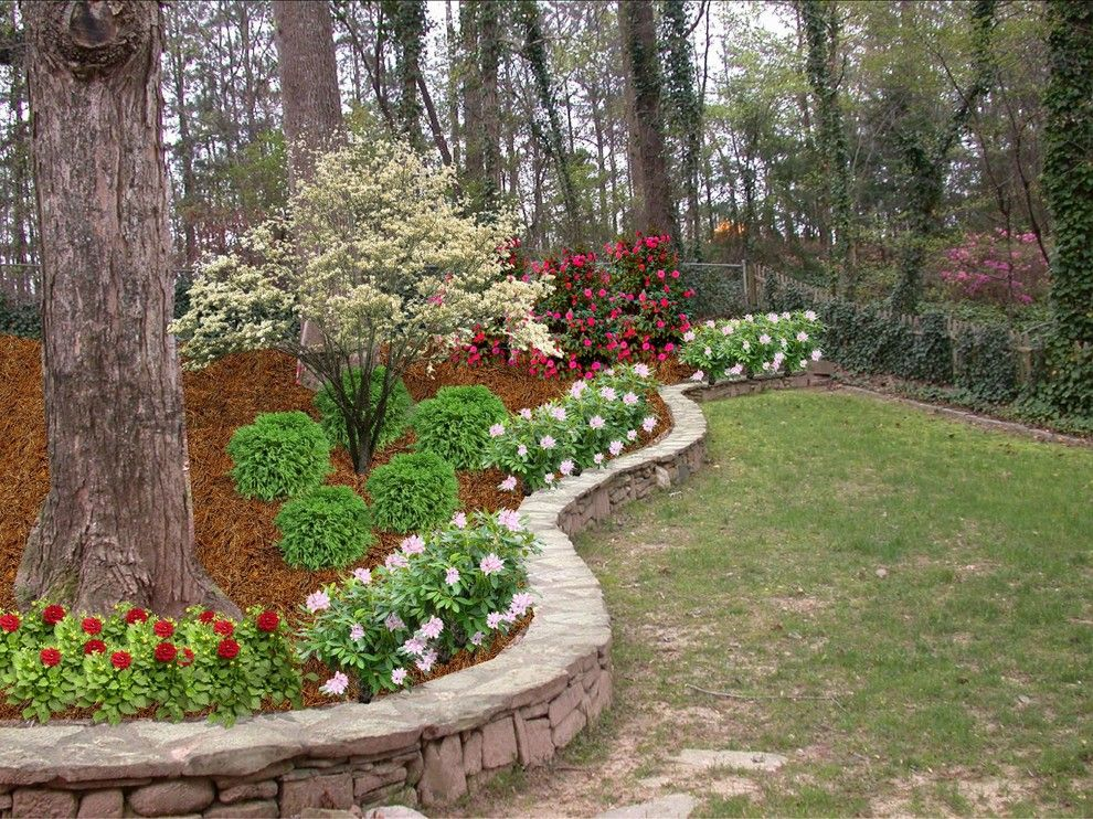 Danielle Fence for a Traditional Landscape with a Grass and Backyard Remake   Norcross by Georgian Landscape Design