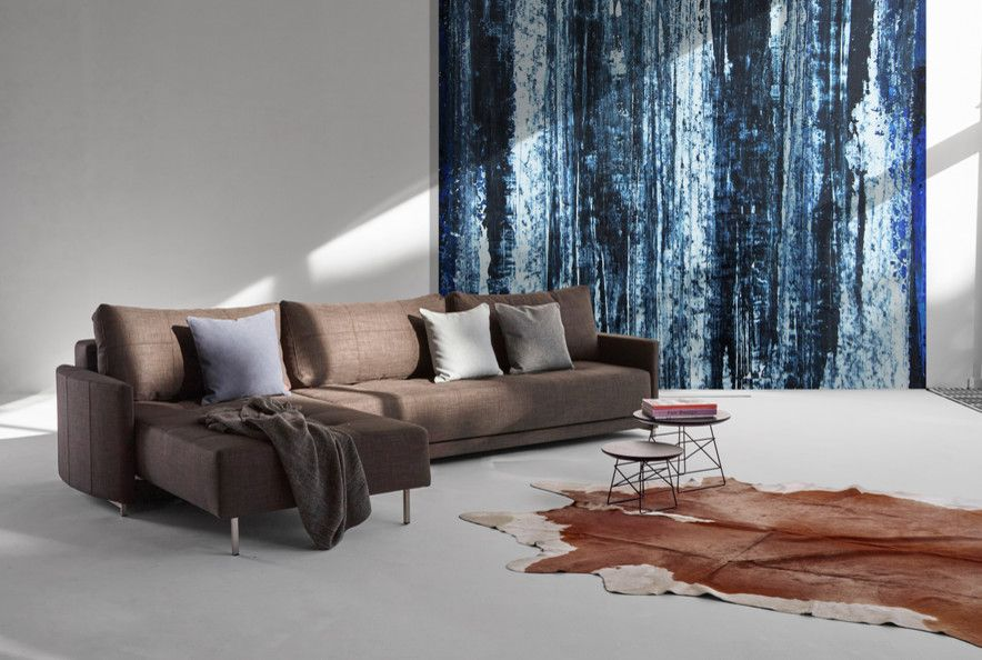 Danish Inspirations for a Modern Living Room with a Danish Modern Sectional Sofa and Crescent Deluxe Excess Sectional Sofa by 212 Concept