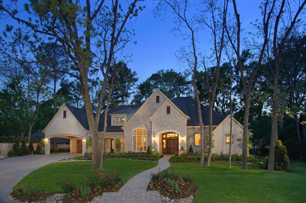Darling Homes Houston for a Traditional Exterior with a Rock Landscape and 6238 by Heavenly Homes