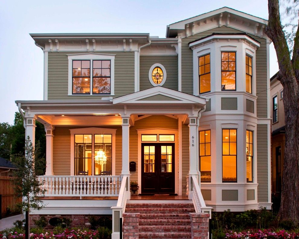 Darling Homes Houston for a Victorian Exterior with a Street Numbers and Houston Heights Project 1 by Collaborative Design Group-Architects & Interiors