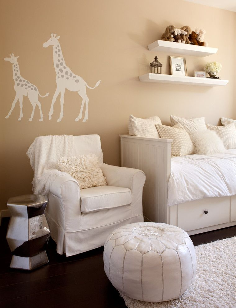 Dau Furniture for a Contemporary Nursery with a Tan Walls and Mission Bay Residence by Melanie Stewart Design