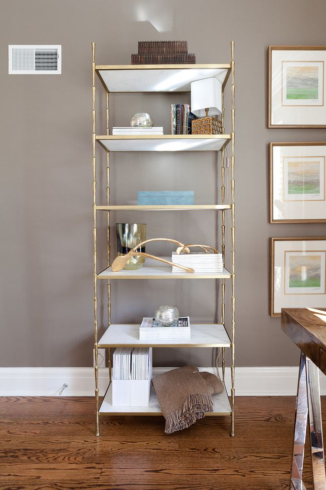 Dau Furniture for a Eclectic Bedroom with a Writing Desk and Ladue News Show House 2015 by Dau Furniture
