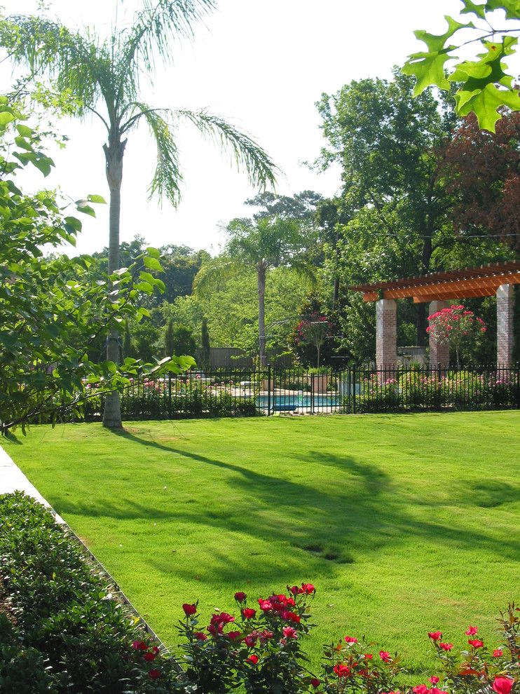 David Weekley Homes Houston for a Mediterranean Landscape with a Mediterranean and Mediterranean Style Home and Gardens by David Morello Garden Enterprises, Inc.