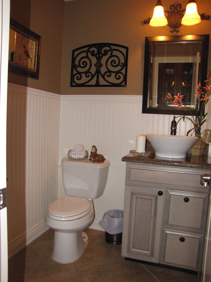 David Weekley Homes Houston for a Traditional Powder Room with a Traditional and Powder Room Remodel by Anysalazarinteriordesign.com