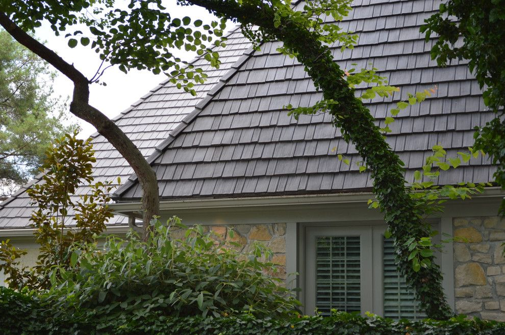 Davinci Roofscapes for a Contemporary Exterior with a Shingle Roof and Davinci Roofscapes by Davinci Roofscapes