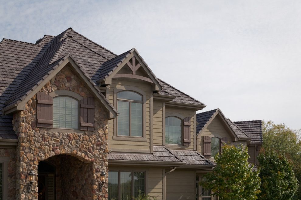 Davinci Roofscapes for a Rustic Exterior with a Shingle Roof and Davinci Roofscapes by Davinci Roofscapes