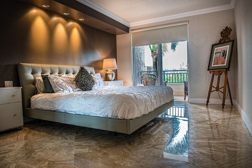 D&b Tile for a  Bedroom with a  and Diane Royale Residence at the Point by D&b Tile Distributors