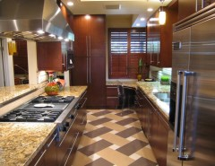 d&b Tile for a Contemporary Kitchen with a Sierra Madre and Pasadena CA Condo Remodel by Marlene Oliphant Designs LLC